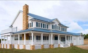 Balnarring - Custom Designed American style home with alfresco area built by Farm Houses of Australia