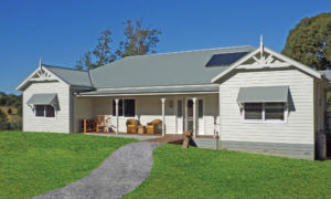 Briarose - country cottage energy efficient home with north facing porch built by Farm Houses of Australia