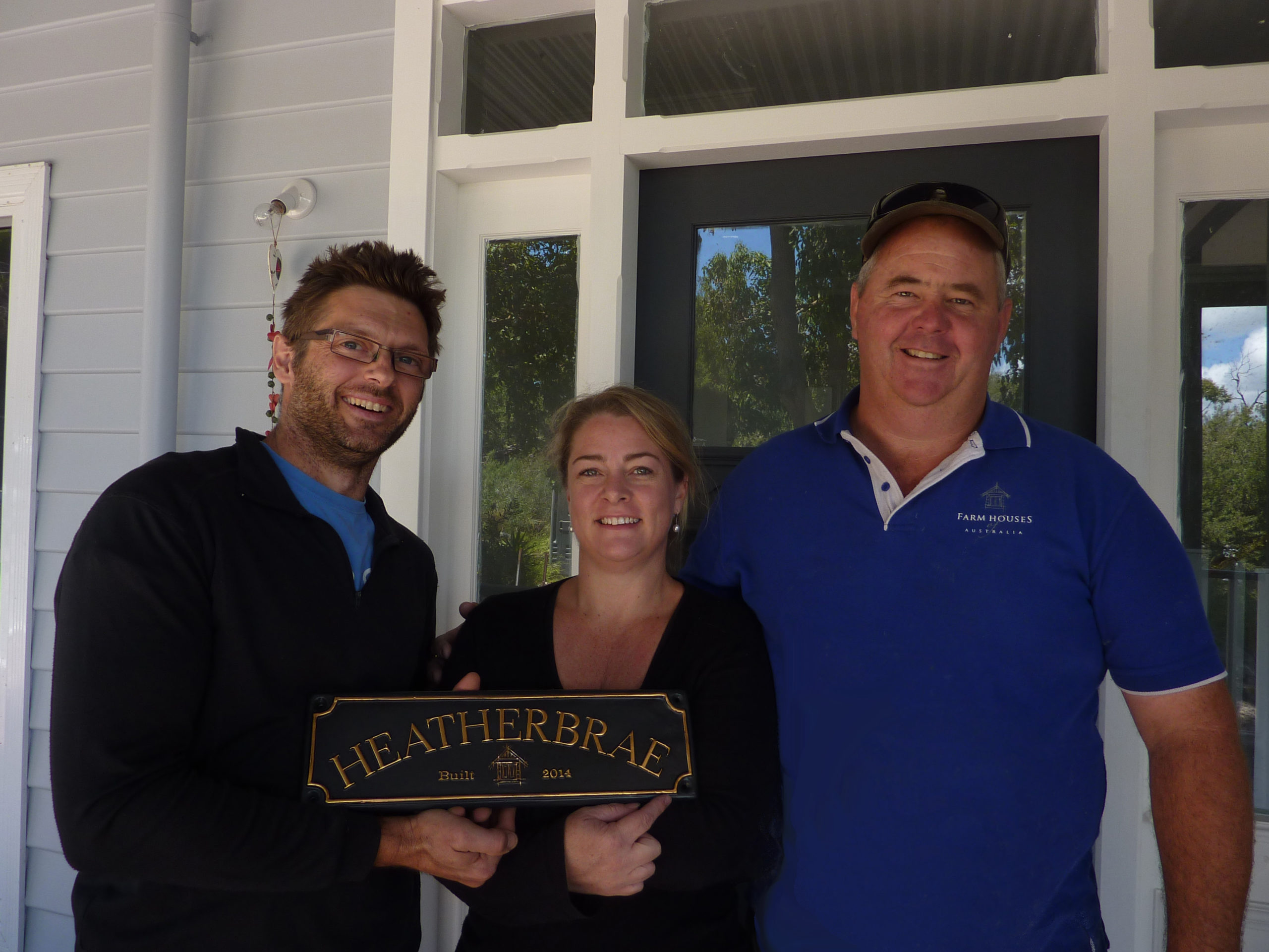 Heatherbrae Christian and Claire - with Doug the builder built by Farm Houses of Australia