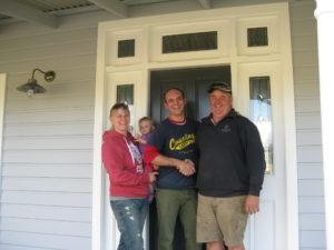 Langwarrin - Melissa and Dan with Doug the builder - Farm Houses of Australia