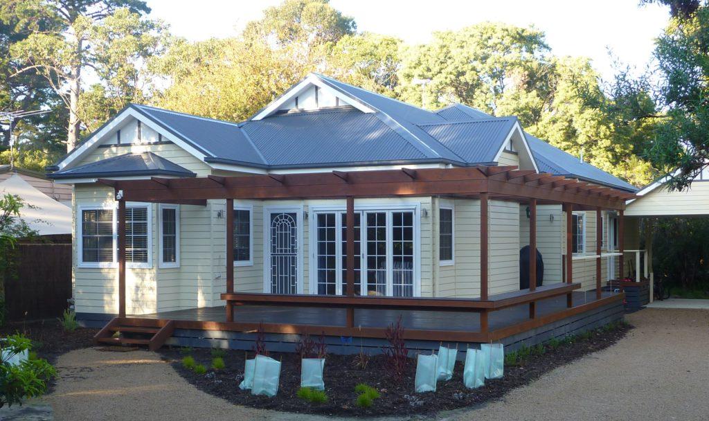 Maison de Plage - Merrick Beach home - federation style cottage built by Farm Houses of Australia
