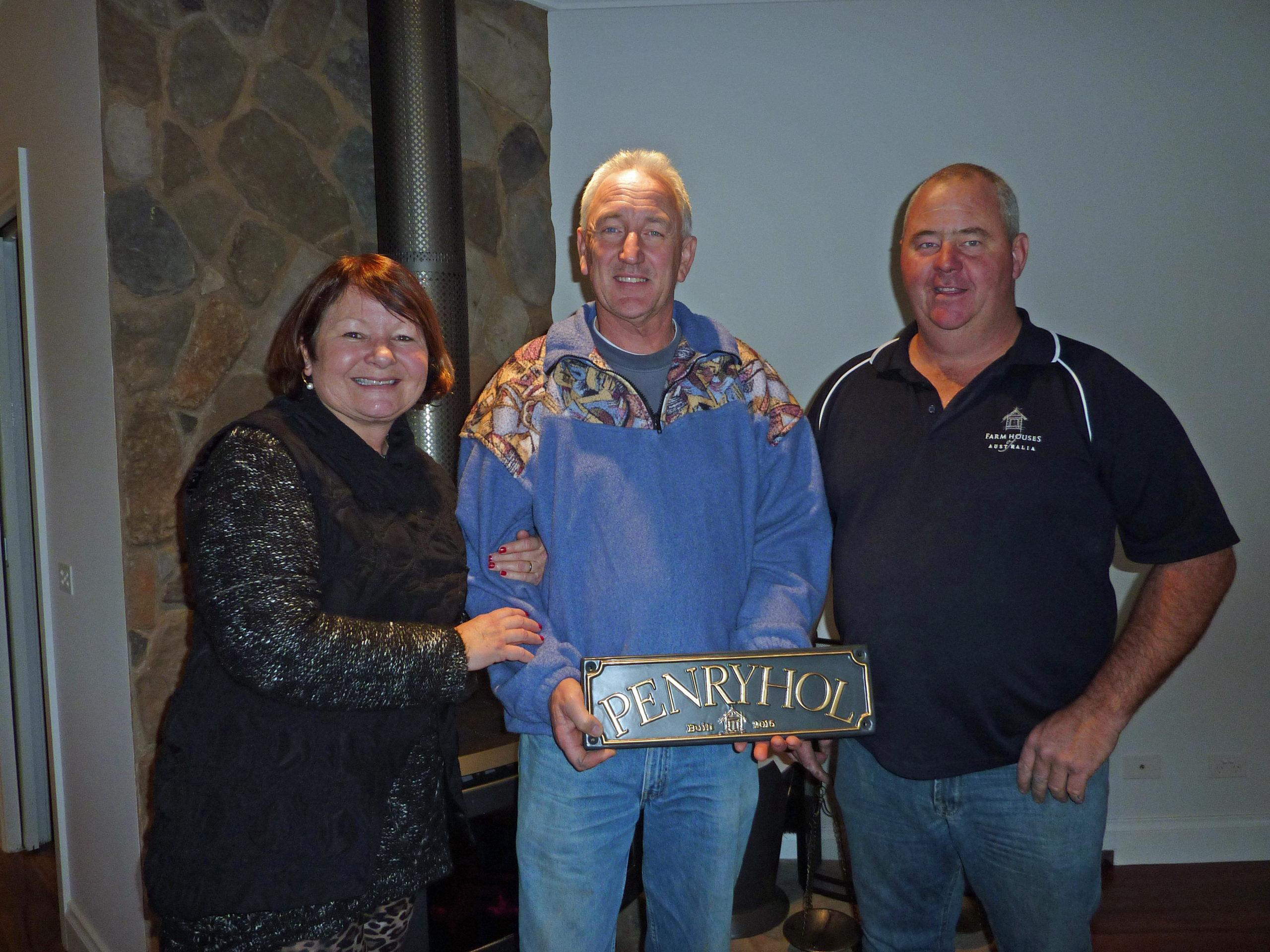 Penryhol - Caroline and Michael with Doug the builder - Farm Houses of Australia